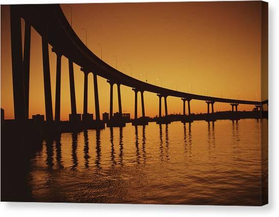 Coronado Bridge Canvas Print by Harvey Meston
