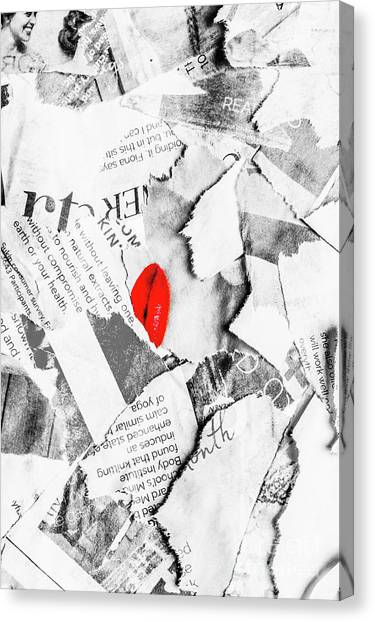Torn Paper Collage Canvas Print - Cosmetic Collage by Jorgo Photography - Wall Art Gallery