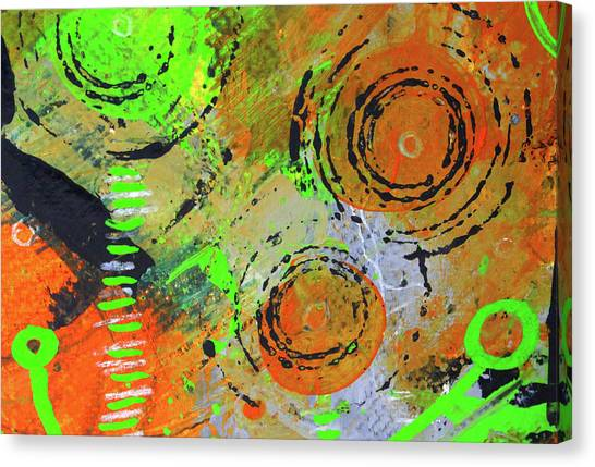 Celestial Canvas Print - Cosmic Garden 3 by Nancy Merkle