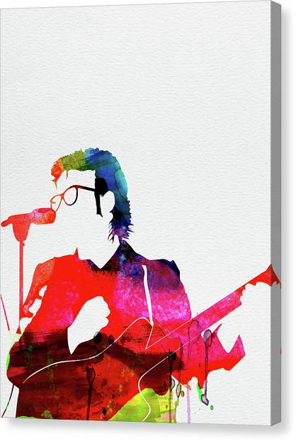 Rock Music Canvas Print - Costello Watercolor by Naxart Studio