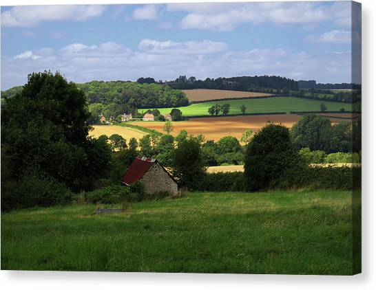 Cotswold Field England 81601 Canvas Print