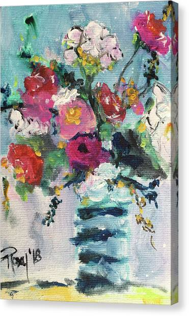 Farmhouse Canvas Print - Cotton And Roses by Roxy Rich
