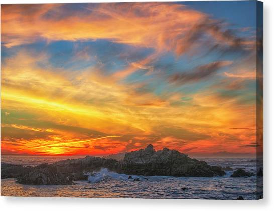 Couds At Sunset Canvas Print by Fernando Margolles
