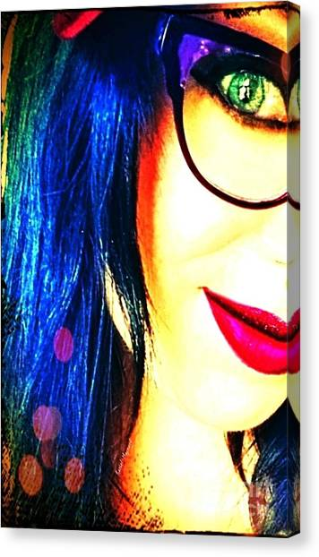 Canvas Print featuring the mixed media Couleur Magique by Rachel Maynard