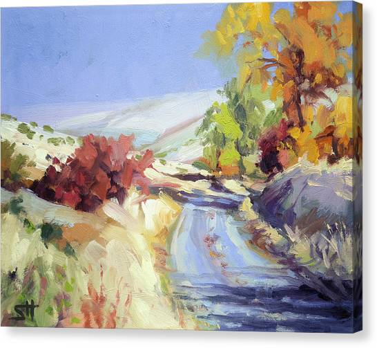 Bush Canvas Print - Country Blue Sky by Steve Henderson