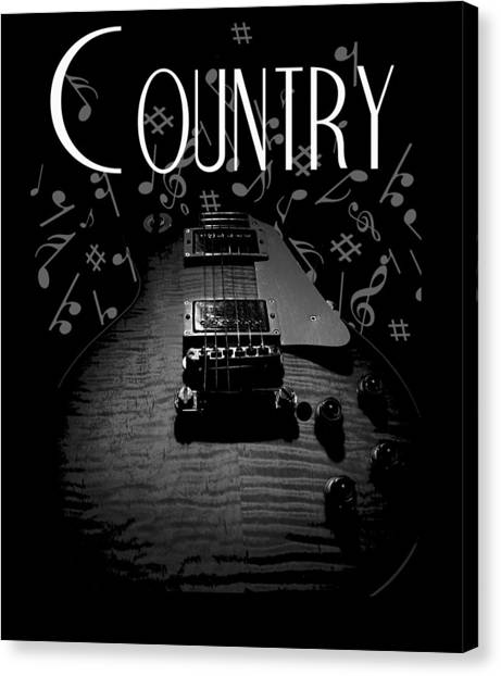 Country Music Guitar Music Canvas Print