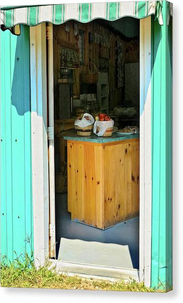 Canvas Print featuring the photograph Country Store by Tatiana Travelways