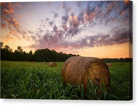 Canvas Print featuring the photograph Country Sunrise by Mark Guinn