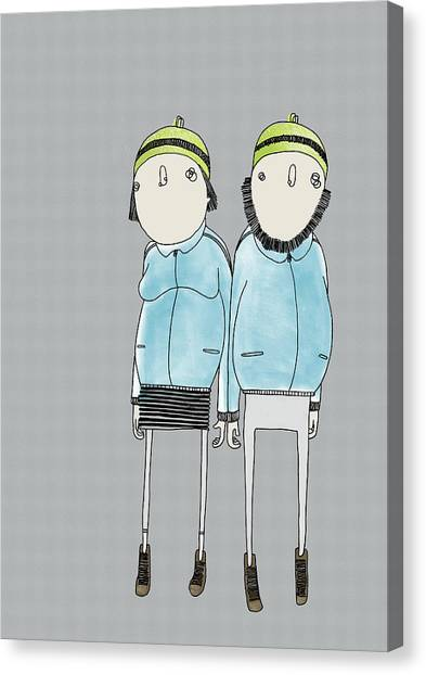 Couple Canvas Print by Stine Kaasa Illustration