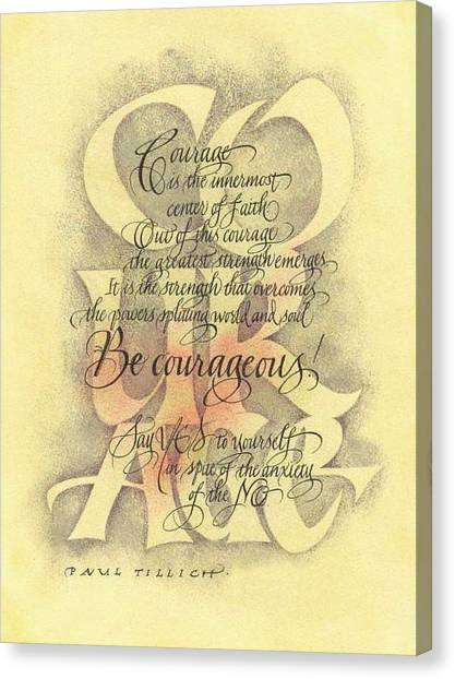 Courage 2 Canvas Print