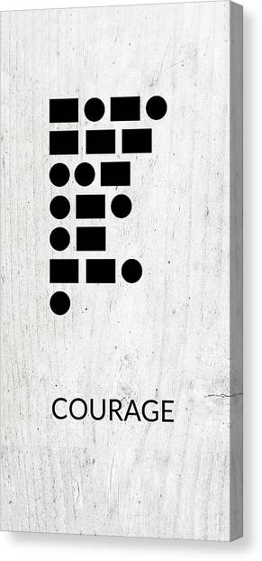 Dad Canvas Print - Courage Morse Code 2- Art By Linda Woods by Linda Woods