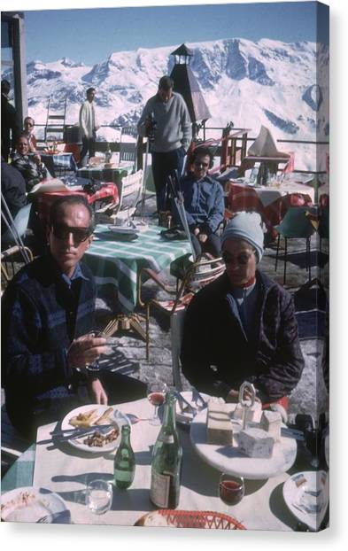 Courchevel Cafe Canvas Print