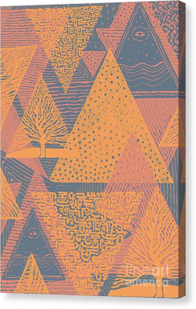 Texture Canvas Print - Cover Design With Triangles. Vector by Jumpingsack