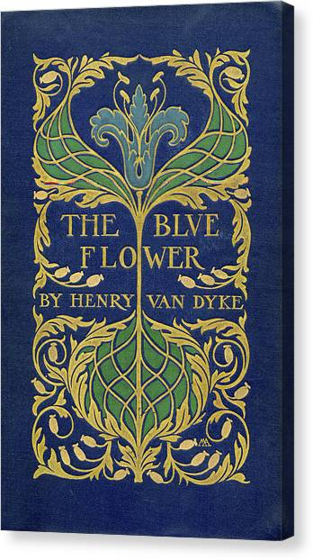 Cover Design For The Blue Flower Canvas Print