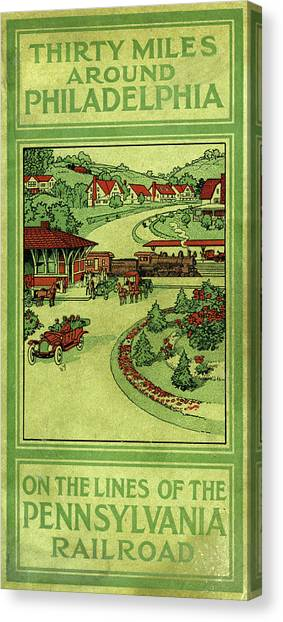 Cover Of Thirty Miles Around Philadelphia Canvas Print