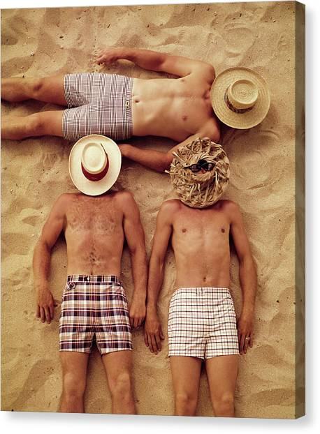Covered Faces Canvas Print
