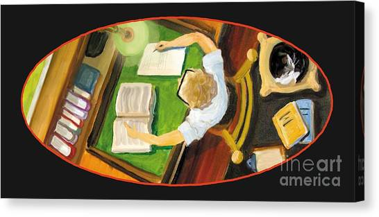 Crack'n The Books Canvas Print