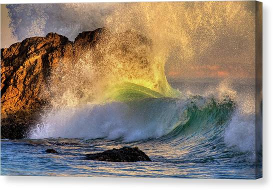 Crashing Wave Leo Carrillo Beach Canvas Print