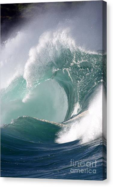 Tides Canvas Print - Crashing Wave by Mana Photo