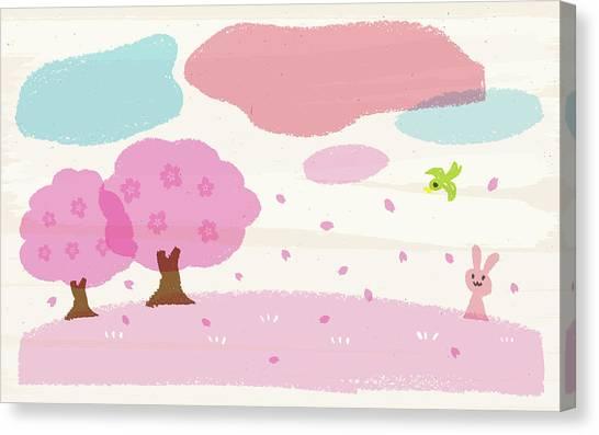 Crayon Spring Canvas Print by Taichi k