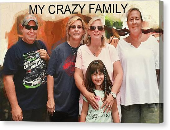 Crazy Family Canvas Print
