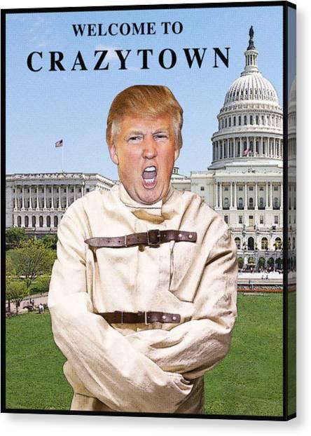 Washington Capitals Canvas Print - Crazytown by Joe  Palermo