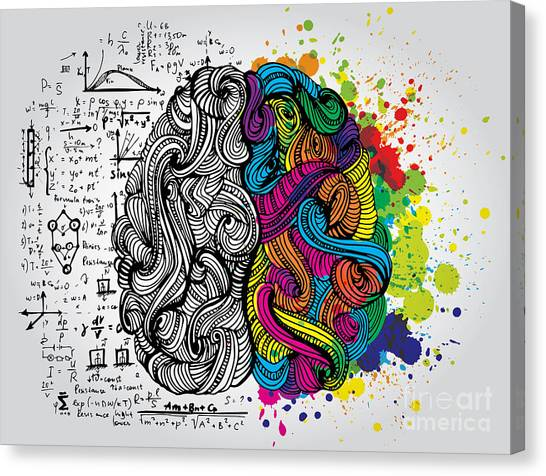 Rights Canvas Print - Creative Concept Of The Human Brain by Kirasolly