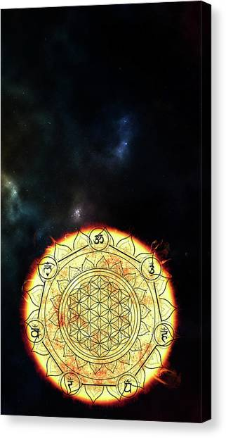 Canvas Print featuring the digital art Creative Force by Bee-Bee Deigner