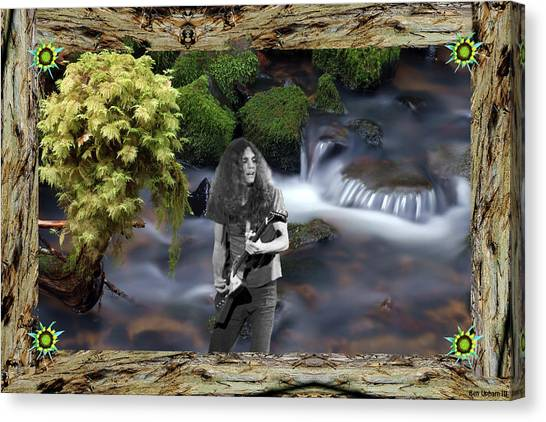 Canvas Print featuring the photograph Creek Music #1 With Redwood Framing by Ben Upham
