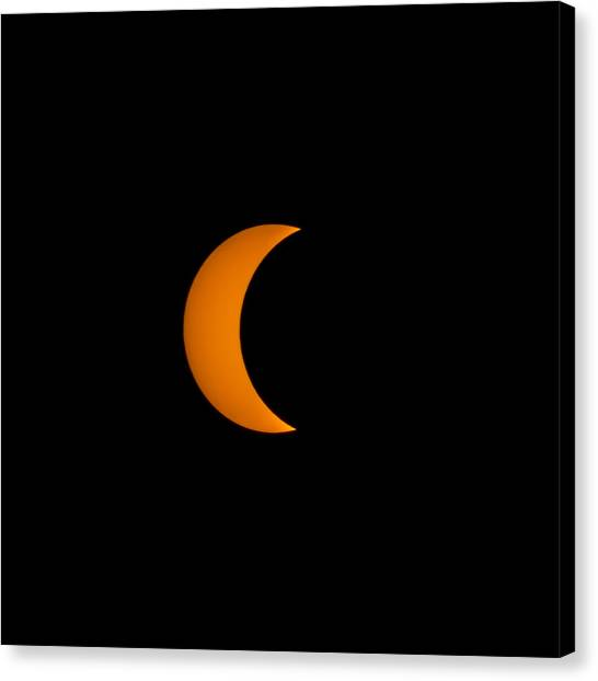 Crescent Sun Canvas Print by Christine Buckley