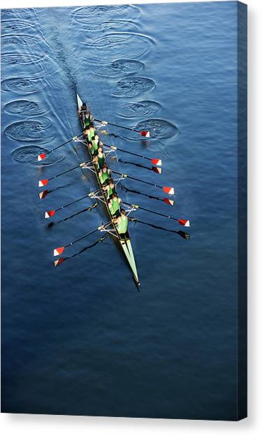 Crew Team Rowing Canvas Print by Fuse