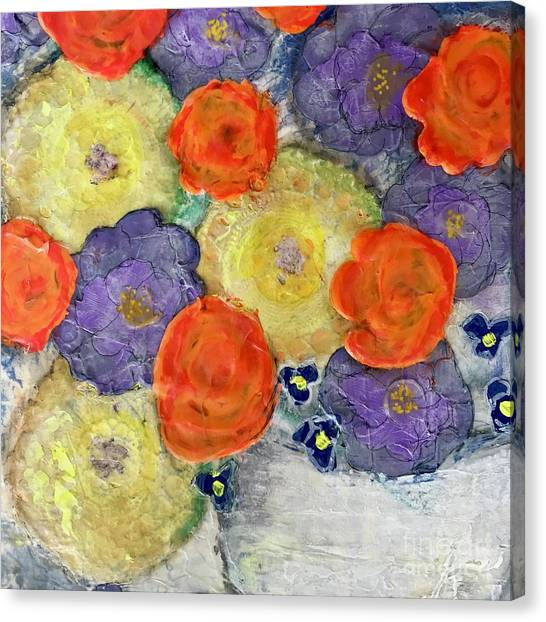 Crochet Bouquet Canvas Print