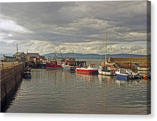 Cromarty. The Harbour. Canvas Print