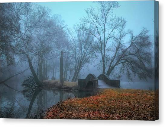 Crossing Into Winter Canvas Print