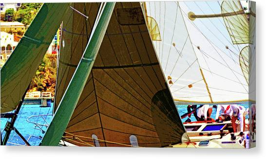 Crossing Sails Canvas Print
