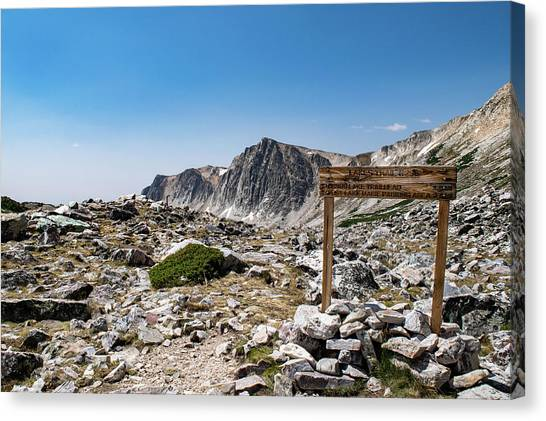 Crossroads At Medicine Bow Peak Canvas Print