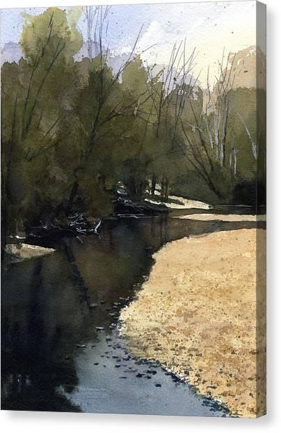 Crow Creek, Augusta, Missouri Canvas Print