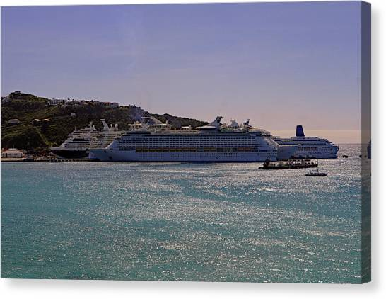 Canvas Print featuring the photograph Cruise Ships by Tony Murtagh
