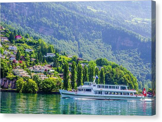 Cruising Lake Lucerne Canvas Print