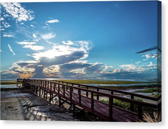 Crystal Beach Pier Canvas Print