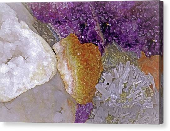 Canvas Print featuring the mixed media Crystal Stand 14  by Lynda Lehmann
