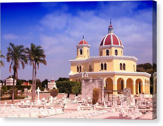Church Canvas Print - Cuba - The Main Cemetery Of Havana by Tupungato
