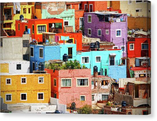 Guanajuato Canvas Print - Cultural Colonial Cities Of Mexico by Www.infinitahighway.com.br