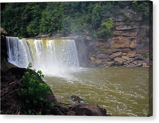 Canvas Print featuring the photograph Cumberland Falls Kentucky by Angela Murdock