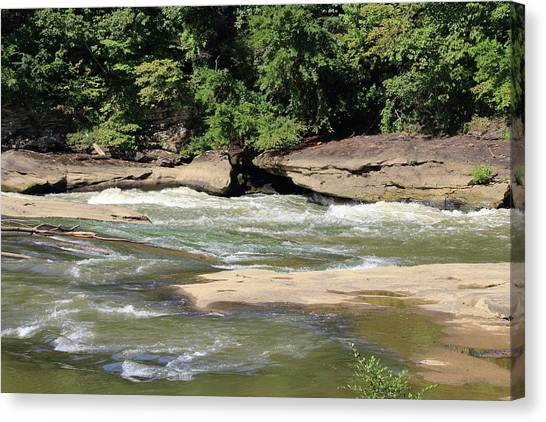 Canvas Print featuring the photograph Cumberland River by Angela Murdock
