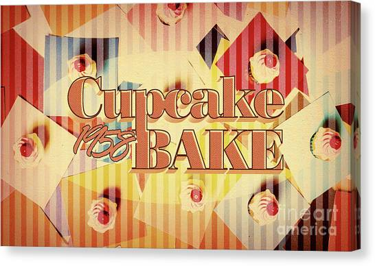 Cakes Canvas Print - Cupcake Bake 1958 by Jorgo Photography - Wall Art Gallery