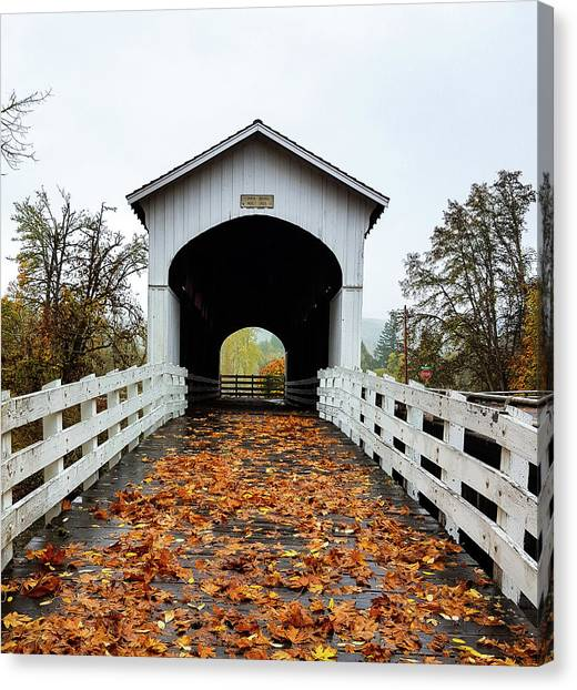 Curin Covered Bridge 1 Canvas Print