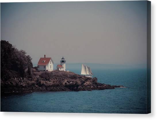 Canvas Print featuring the photograph Curtis Island Lighthouse - Camden, Maine by Joann Vitali