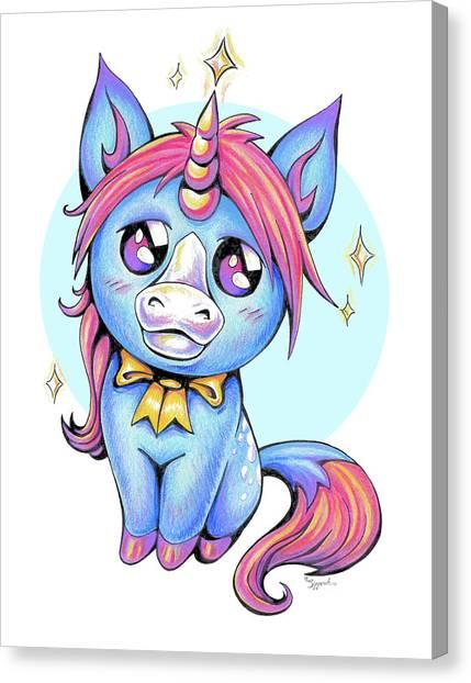 Cute Unicorn I Canvas Print