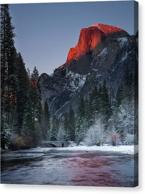 Cutting Half Dome Canvas Print by Chase Dekker Wild-life Images